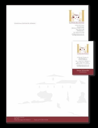 Briefpapier + Visitenkarten