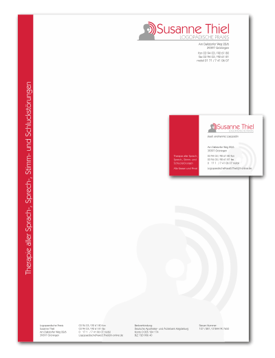 Briefpapier Visitenkarten Logo24 Premium Logo Design